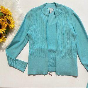 St John Sport Santana Knit 2 pc Twinset Zip Jacket